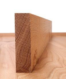 Solid American Oak Square Edge Architrave Set