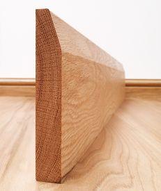 Chamfered Solid American White Oak Skirting Board