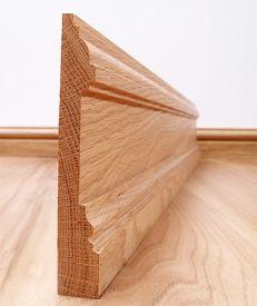 Solid American Oak New England Skirting Board