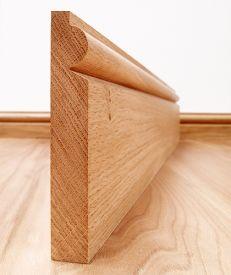 Solid American Oak Torus Skirting Board