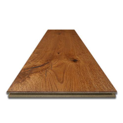Fumed and Brushed Engineered Oak Flooring Sample 15mm
