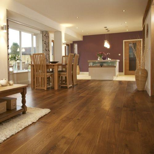 Fumed Character Grade Oak Flooring