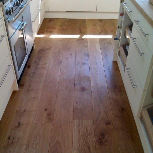 Fumed and Brushed Character Grade Oak Flooring