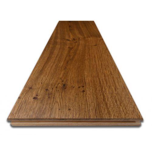 Fumed Engineered Character Oak Flooring 20mm - Sample