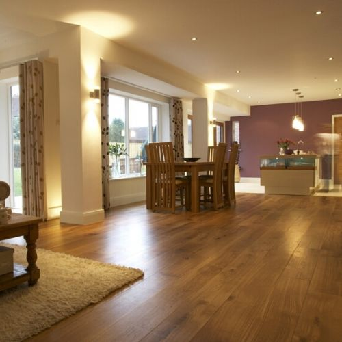 Fumed and Brushed Engineered Classic Oak Flooring