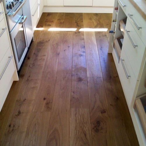 Fumed and Brushed Engineered Character Oak Flooring