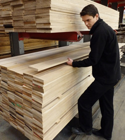 calibrated oak timber boards
