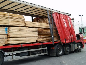 Timber delivery from France