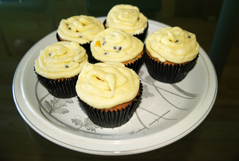 passionfruit cupcake runner up