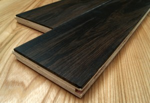 bog-wood oak engineered flooring close-up