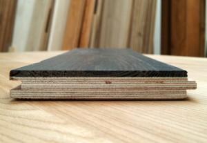profile details of engineered bog-wood oak flooring