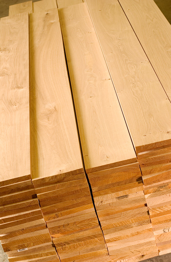 Calibrated European Oak Timber Boards