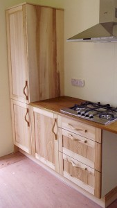native olive ash hardwood kitchen cupboards