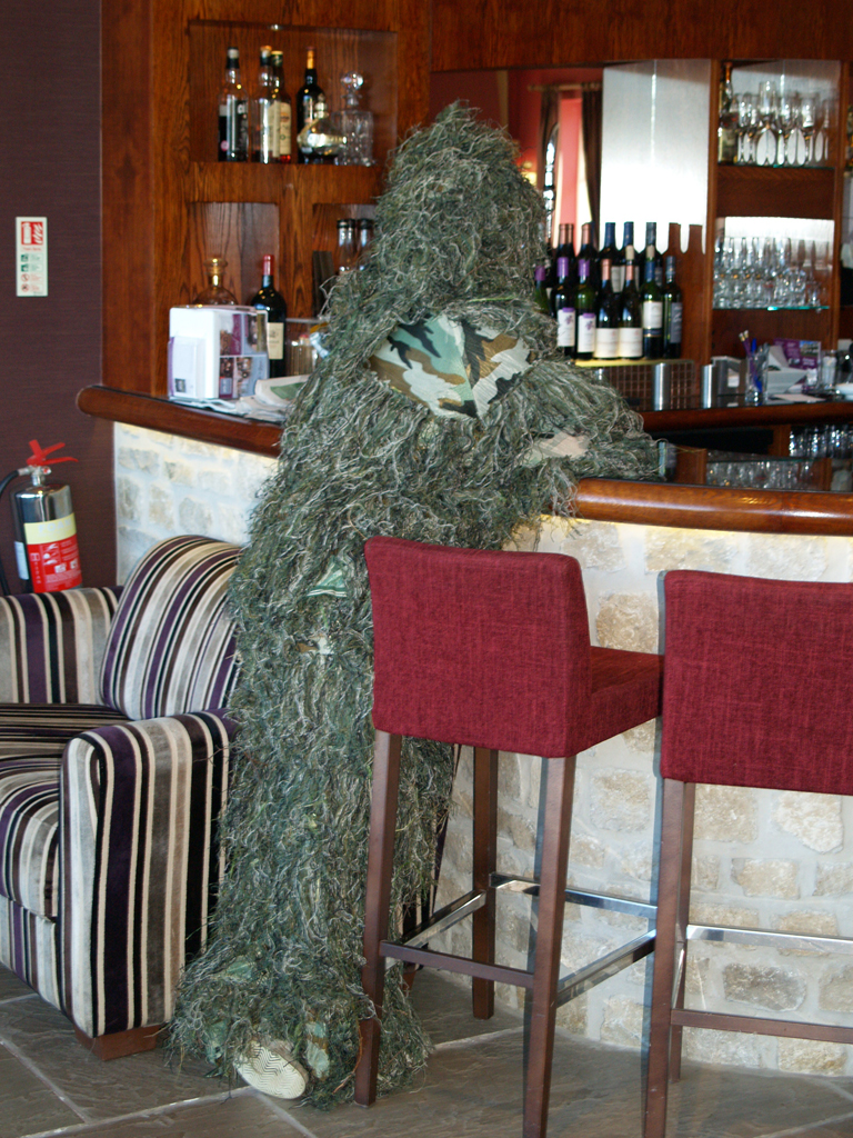 James in ghillie suit