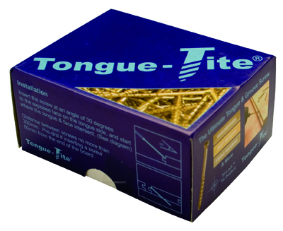 A box of tongue-tite screws for fitting hardwood flooring