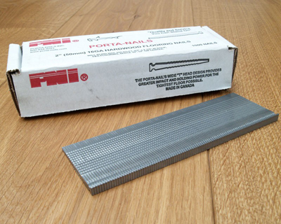 A box of porta-nails, suitable for fitting hardwood flooring
