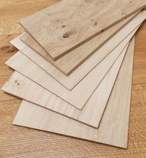 thin wood selection pack in oak