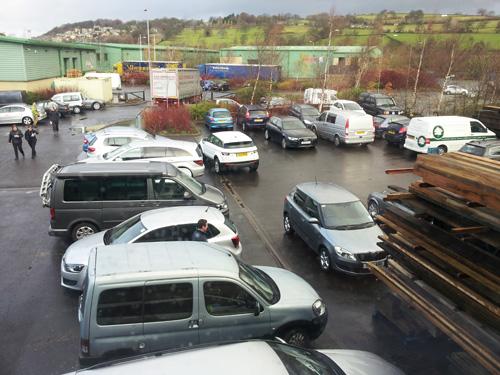 A nice full car park!