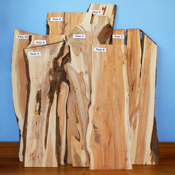 Selected Yew Wood Boards