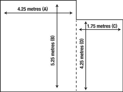 how to measure an l-shaped floor area