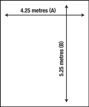 how to measure floors square/rectangular room
