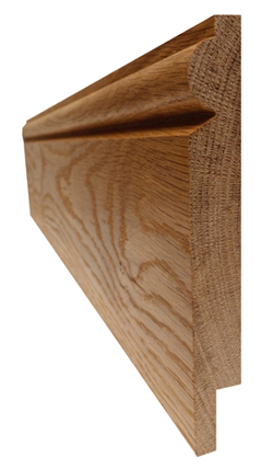 oak skirting board with cable management rebate