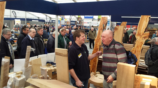 Jason helping a customer on our stand at the woodworking show
