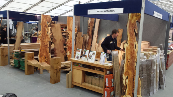 Beautiful yew boards on our stand