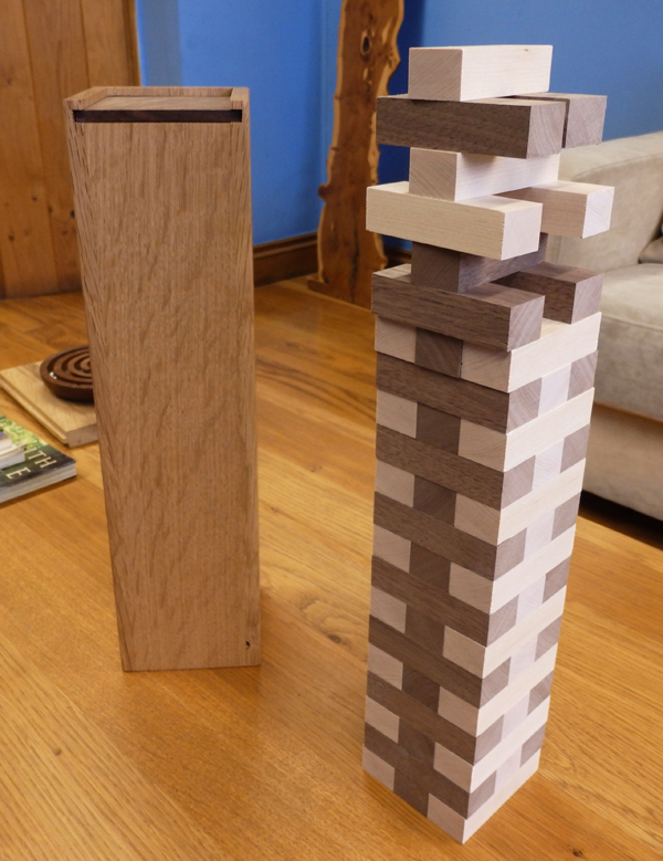 Neil's hardwood jenga box
