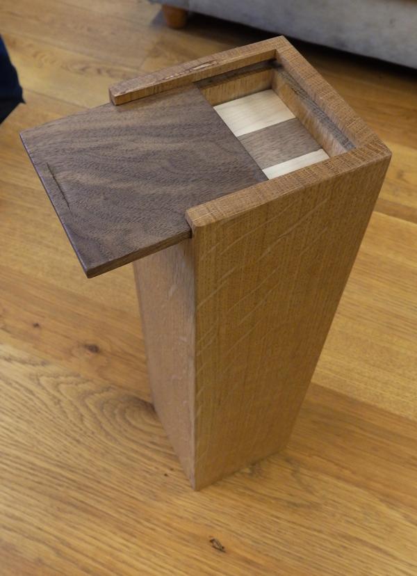 Neil's hardwood jenga box