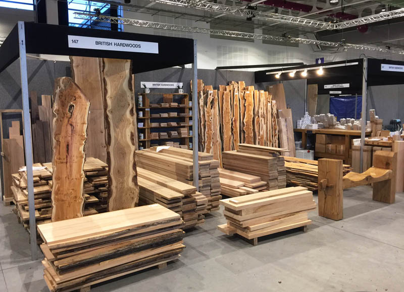 The British Hardwoods stand - ready for action on Friday