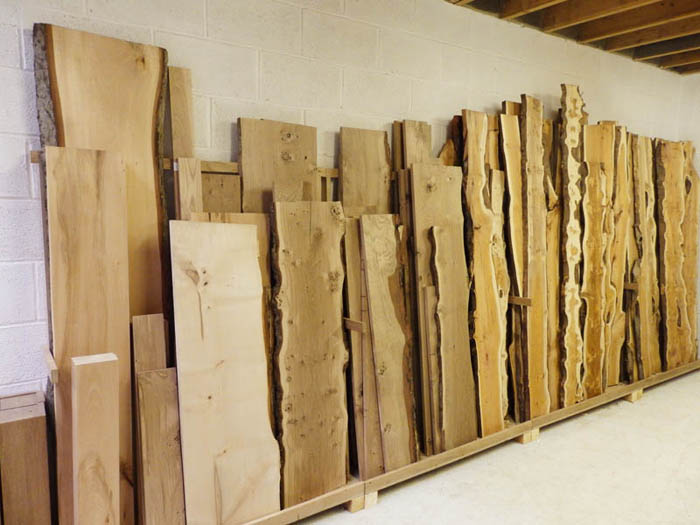 Selected hardwood boards at our new timber shop