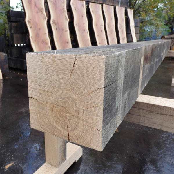Sawn Air Dried Oak Beams in lengths up to 5 metres