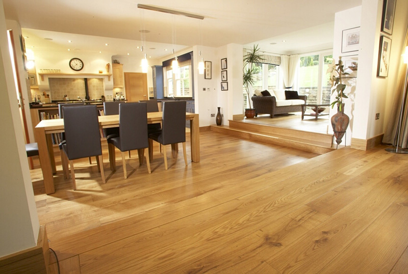 Engineered Oak Flooring finished with hardwax oil