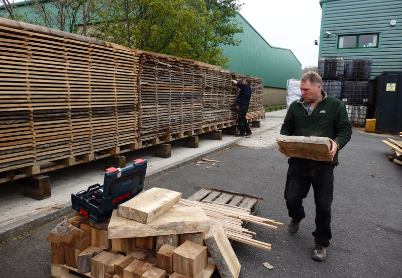 First to unload, some lovely thick sections of sycamore, ideal for woodturning