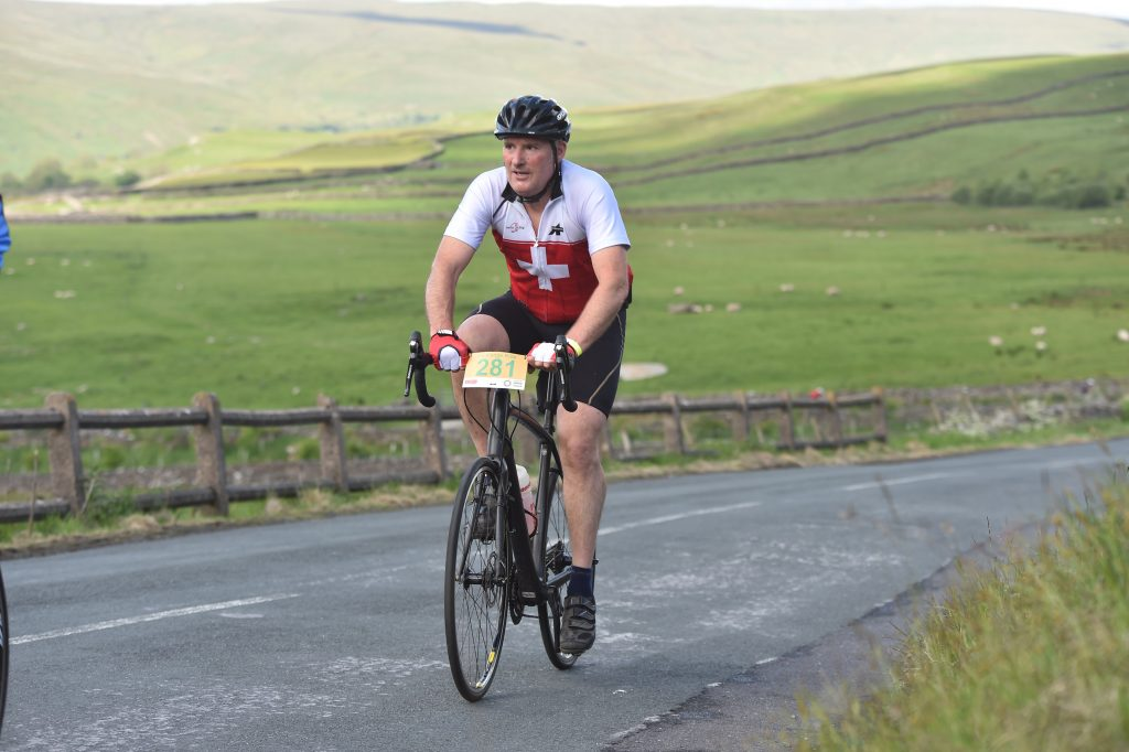 Nigel cycling throughout the Yorkshire Dales