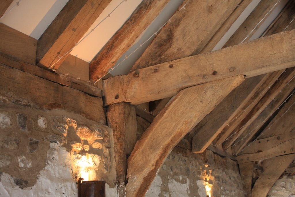 Restoration of traditional oak beams