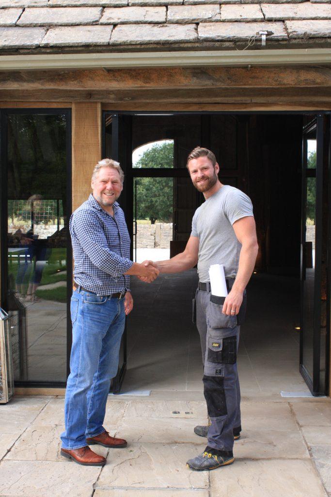 Tony Fillingham (British Hardwoods MD, left) and Rob McKay