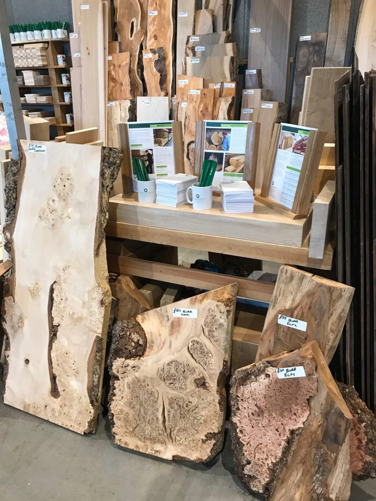 British Hardwoods Stand at the North of England Woodworking Show 2018