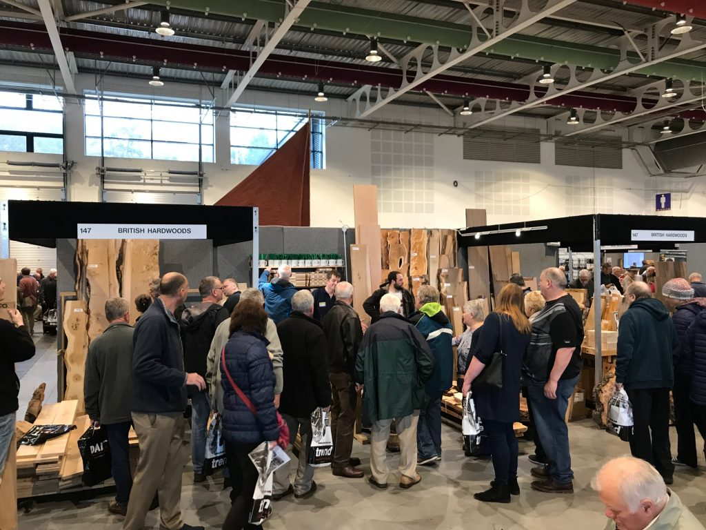Opening day at the British Hardwoods stand at the North of England Woodworking Show