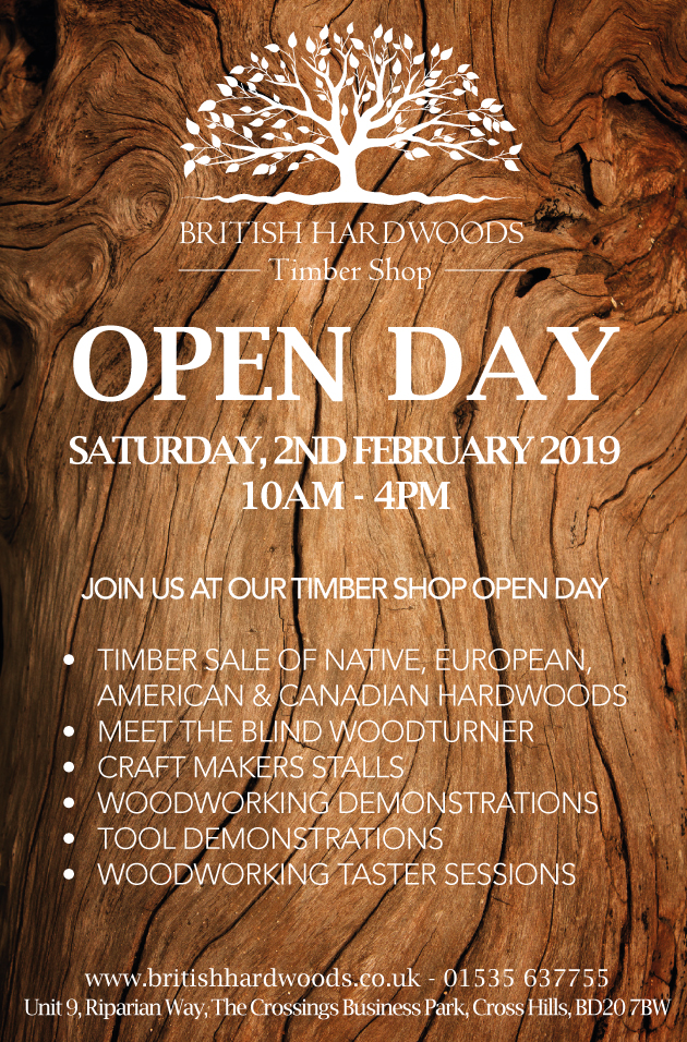British Hardwoods Timber Shop Open Day - 2nd February 2019