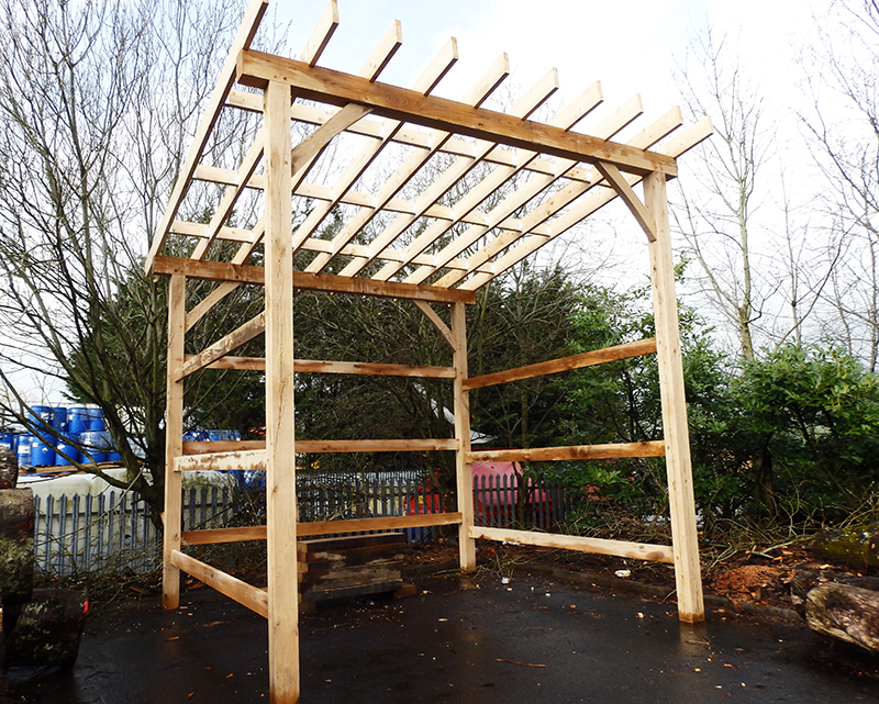 The framework for the air drying shed is now complete - now for phase 2!